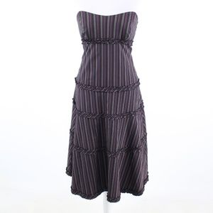 Black purple stretch NICOLE MILLER  A-line dress 6